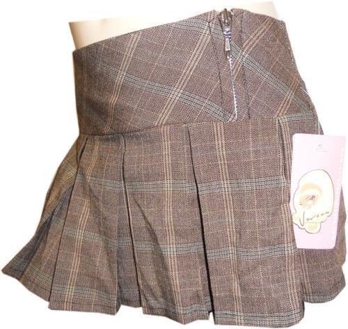 New Girls Tartan Check Pleated Mini Skirts Checked 5 6 7 8 9 10 11 12 13 years