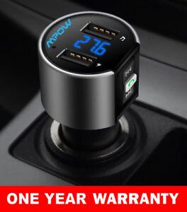Handsfree-Wireless-Bluetooth-Car-Kit-FM-Transmitter-Radio-MP3-Player-USB-Charger