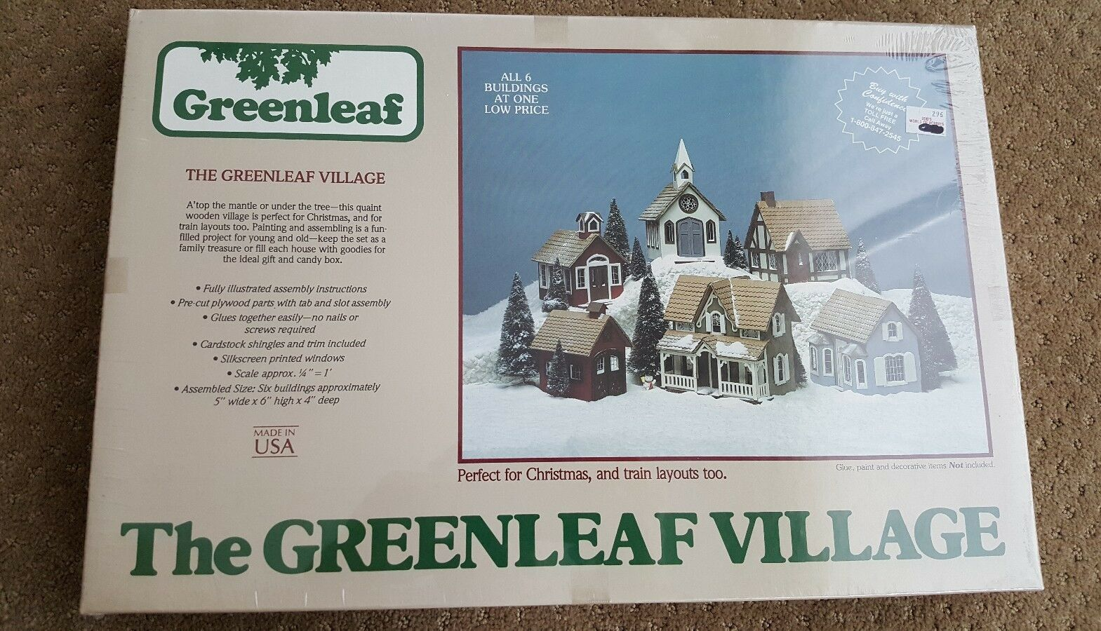 The Greenleaf Village O scale Wood Houses