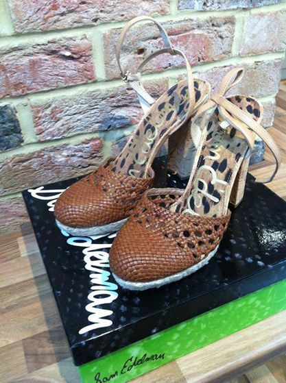Brand new in box SAM EDELMAN rella whiskey leather schuhe uk7 rrp