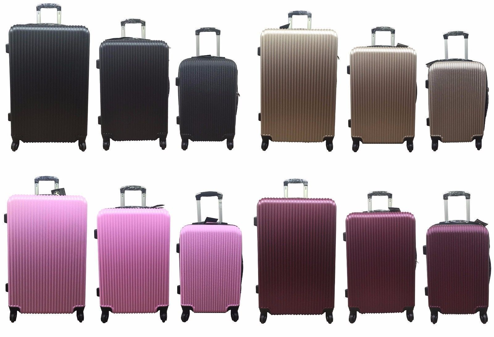 Haute Qualité 4 Roues Spinner Valise PC Hard Hard Hard Case Bagage Valise trolley 4 Couleur 5a3954