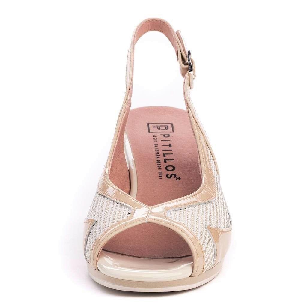 Pitillos toe Shoes Spain Comfort heel Leather sling back peep toe Pitillos shoes - 1091 4d51ef