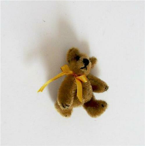 Gift Tie Toy Teddy Bear Golden Brown 1.5 in WMB World of Miniature Bears
