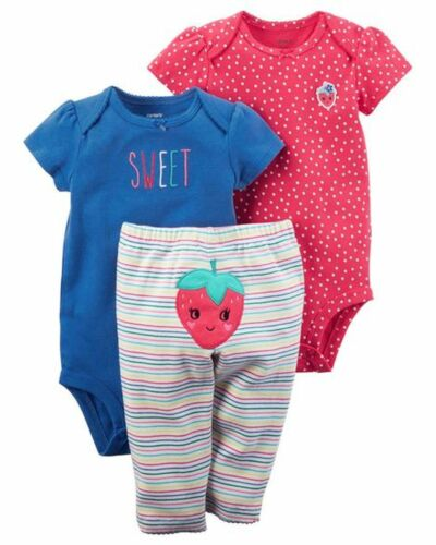 New Carter/'s Girls 3 Piece Turn Around Strawberry Set 24m 18m 12m 9m 6m 3 NB