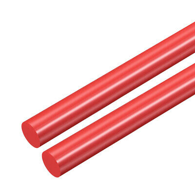 Plastic Round Rod,POM Rod,8.5mm Dia Red Engineering Plastic Round Bar 2pcs