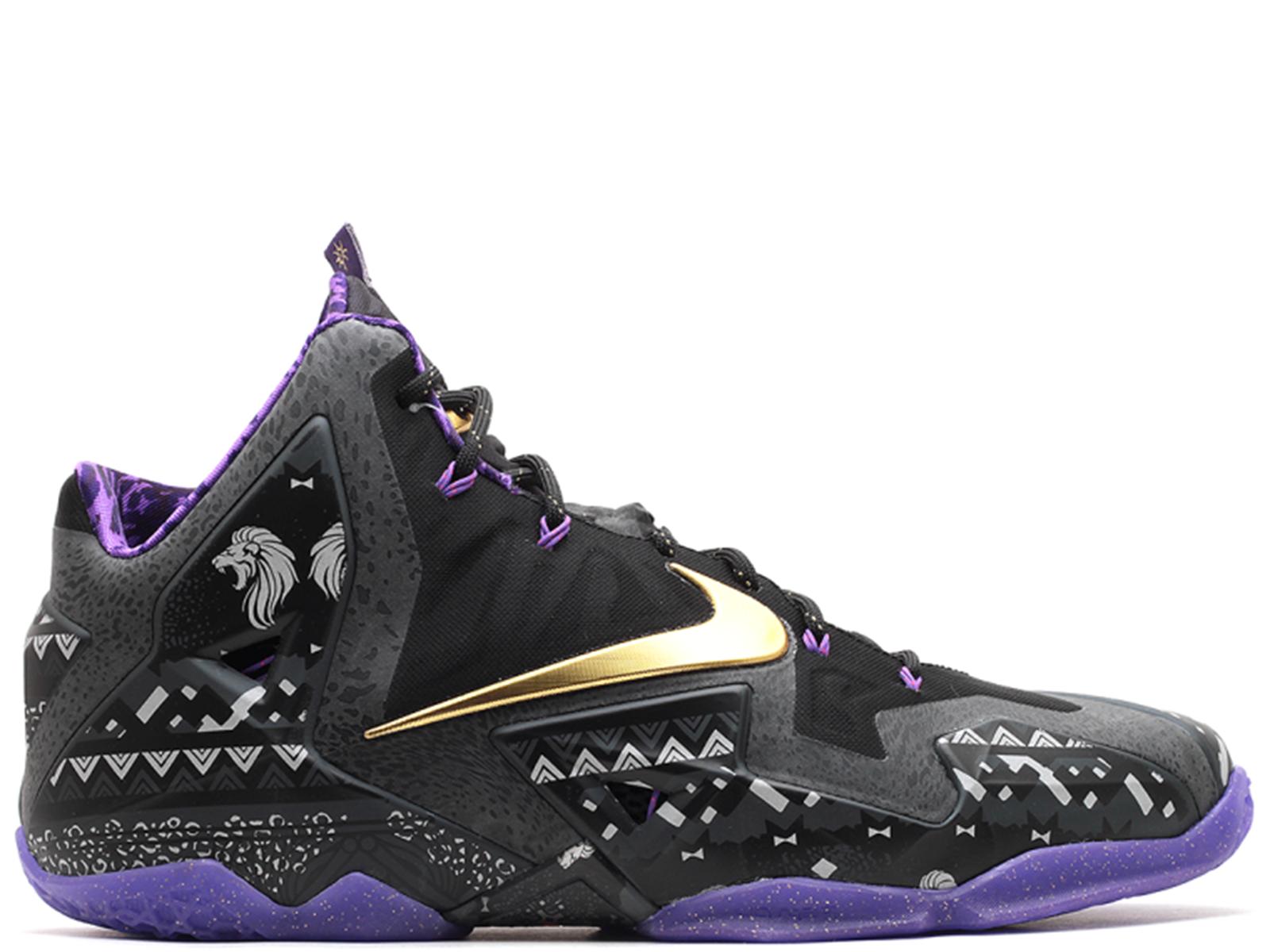 Nike hombre LeBron XI la BHM el mes de la XI historia negra talla 11 nueva marca rara 591cc3