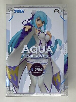 Konosuba Aqua Limited Premium Figure 1//7 Emilia Ver SEGA LPM Re zero NEW IN BOX