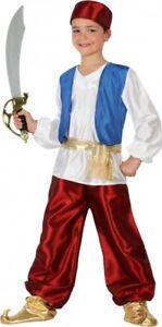 Déguisement Garçon Prince Aladin 10/11/12 Ans Enfant Guerrier Arabe Neuf Forfaits à La Mode Et Attrayants