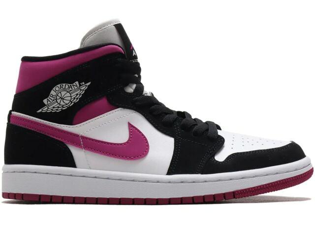 Womens Nike Air Jordan 1 Mid Retro I Sz 10 Black Cactus Flower White Bq6472  005