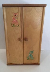 "Antique 10"" Strombecker Dollhouse Wardrobe For Doll Clothes"