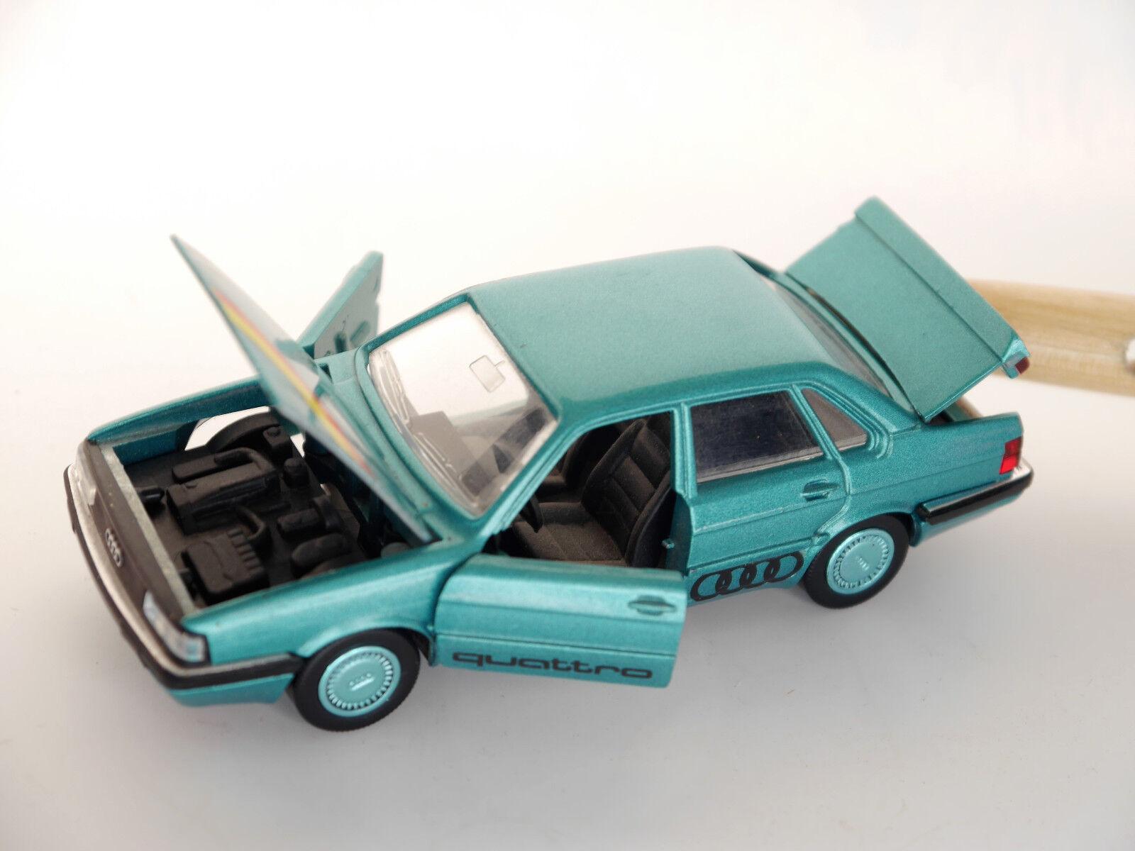 tomamos a los clientes como nuestro dios Audi 90 b2 tipo 81 85    Quattro  en verde verde verde verde Metallic, Schabak 1 43  punto de venta de la marca
