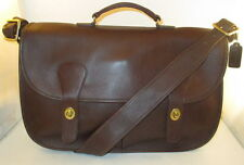 """Coach Vintage Mahogany Leather Musette """"Carrier"""" Bag/Briefcase - New w/o Tags"""