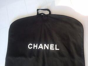 5d9b10fa515314 Image is loading CHANEL-New-Black-Canvas-Garment-Bag-RARE