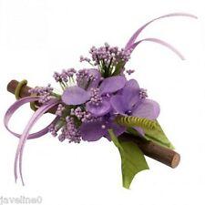 6 fleurs des champs lilas sur bois Décoration mariage