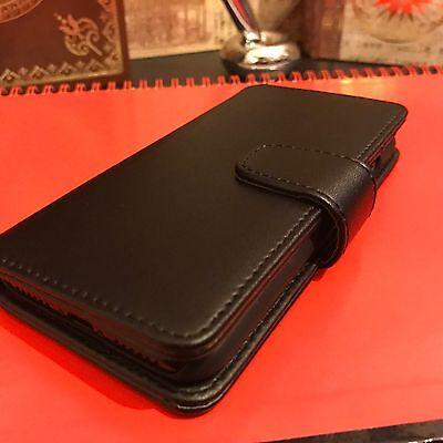 Real Leather Wallet Originale Basso Profilo Business Case Samsung Galaxy S8 Nero-