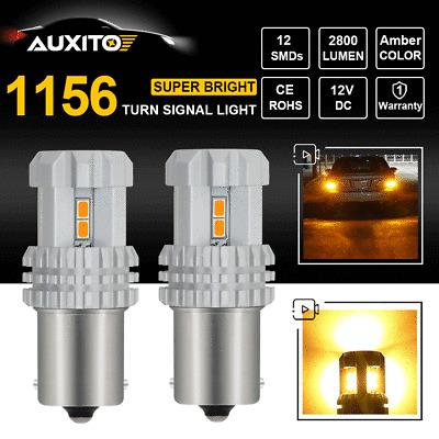 CREE 1156 BA15S P21W 7506 LED Amber Yellow Turn Signal Indicator Light  2800LM X2 | eBay