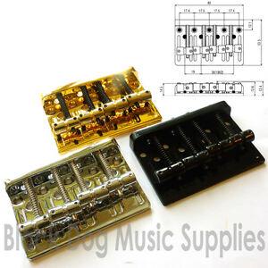 Quality-hardtail-through-body-bass-guitar-bridge-chrome-black-or-gold-BB101