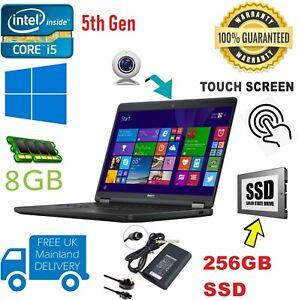 """Dell Latitude E5450 Core i5-5300 CPU@ 2.30GHz 8GB 256SSD 14"""" FHD TOUCHSCREEN"""