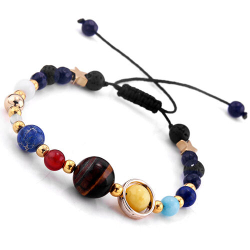 Universe Galaxy The Eight Planets In Solar System Guardian Star Bracelet Gift