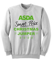 Mens Womens Asda Smart Price Christmas Funny Sweatshirt Xmas Jumper S-xxl