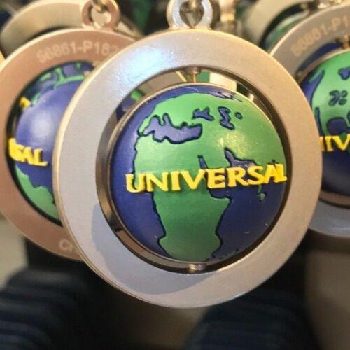 Universal Studios Exclusive Spinning Globe Metal Keychain New