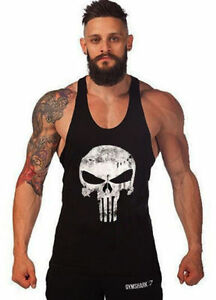 Gym-Men-Vest-Bodybuilding-Tank-Top-Muscle-Clothing-Stringer-T-Shirt