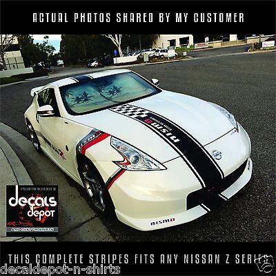 Nissan 350Z 2017 >> Whole Stripes Fits Nissan 350z 370z Hood Roof And Rear 2006 2017 Any Z Series Ebay