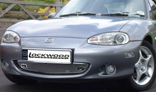 Lockwood Mazda MX-5 Miata Mk2.5 01-05 Woven Stainless Steel Mesh Front Grille