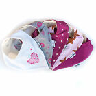 5 PACK - GIRLS - BANDANA BABY BIBS / DRIBBLE BIBS