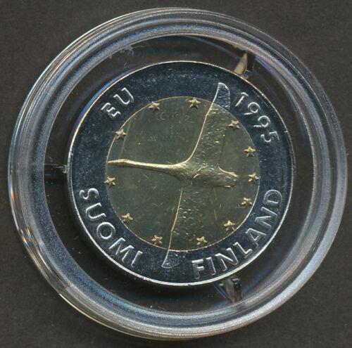 Bi-metallic 10 Markkaa Coin Finland 1995 Swan European Unity 10 Mark