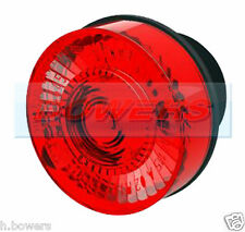SIM 3186 12V LED 35mm ROUND RED REAR PUSH IN MARKER LAMP/LIGHT WITH 500MM CABLE