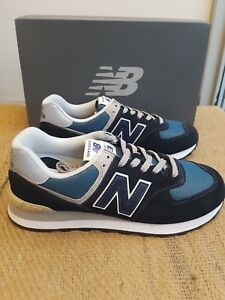 62b1c16f3e4 Details about NEW IN THE BOX NEW BALANCE ML574ESS Dark Navy with Marred  Blue SHOE FOR MEN