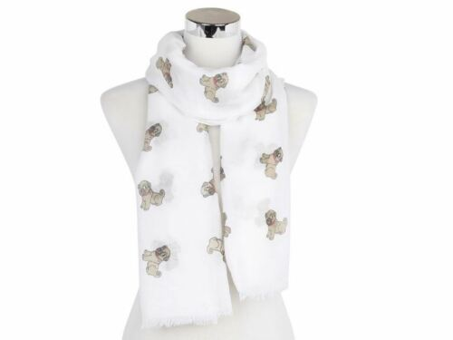 NEW Ladies scarf with Westie  West Highland Terrier Corgi Beagle Pug Dogs Print