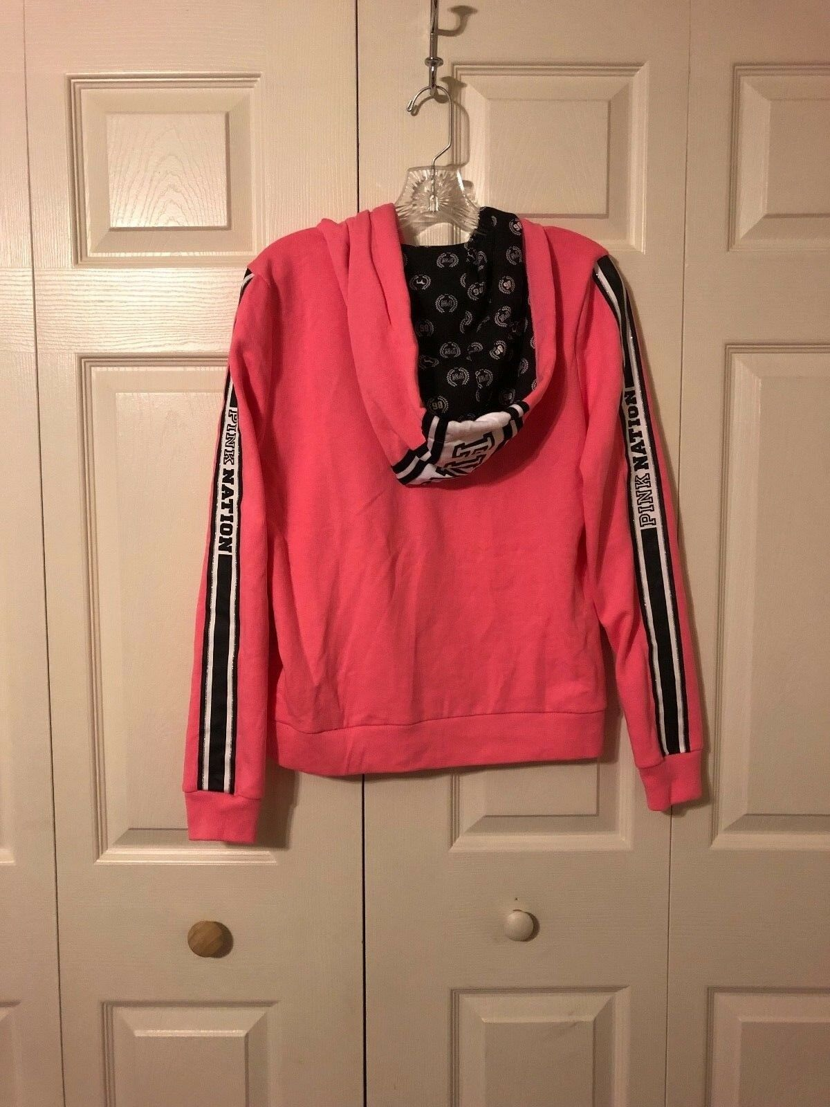 Victoria's Secret PINK Bright Pink PINK PINK PINK Nation Perfect Full Zip Hoodie M NEW 367afb