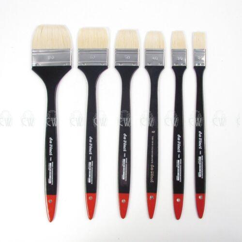 Artists Hog Bristle Brush. Da Vinci Series 7055 long handled Flat Hog Brush