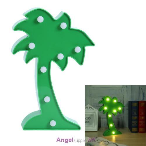 Unicorn Cactus Flamingo LED Night Light Wall Lamp Kids Bedroom Home Decor Gift