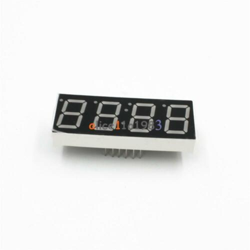 """2PCS 0.56/"""" 4 Digit Super Red LED Display Common Anode with Time Display 12 Pins"""