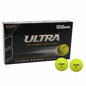 wilson ultra balle de golf 15 in a box bon rapport qualit prix ballon jaune ebay. Black Bedroom Furniture Sets. Home Design Ideas