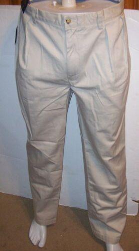 NEW Polo Ralph Lauren Classic Fit chino pleated pants  light khaki beige 35 x 30