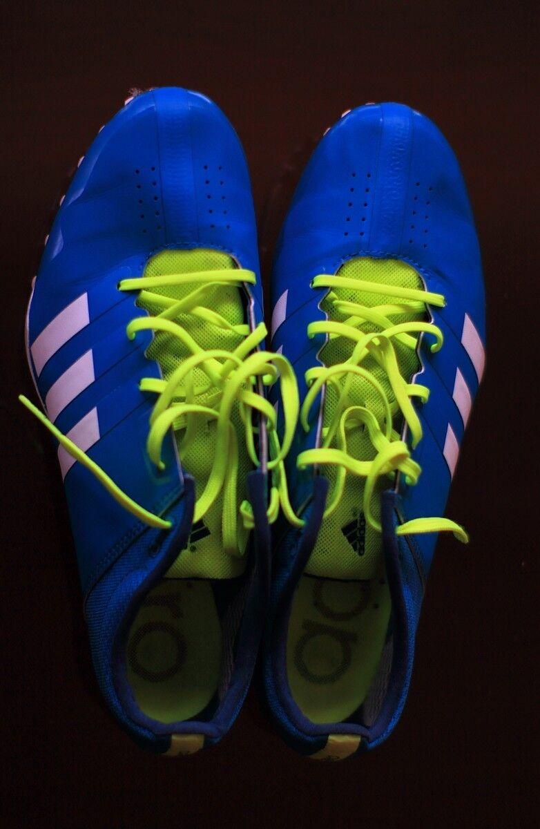 Adidas Adizero Finesse Sprint Spikes blau, gebraucht, UK 8,5