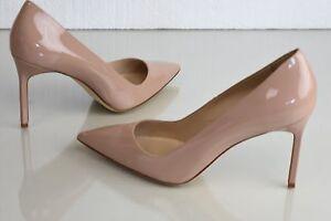 c7e3bbaa8f738 New Manolo Blahnik Stabipla 90 BB pumps Nude Patent Leather Heels ...