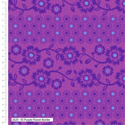 Makoti par Stuart Hillard SUPERBE VIOLETTES /& Blues 100/% Coton Patchwork Tissu