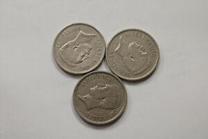 BELGIUM-5-FRANCS-1931-3-COINS-LOT-B15-SWC29