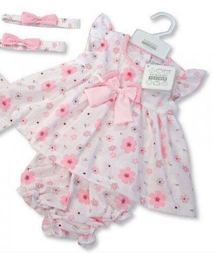 NEW Baby girls floral dress with knickers /& headband,summer dress 3-6 months.