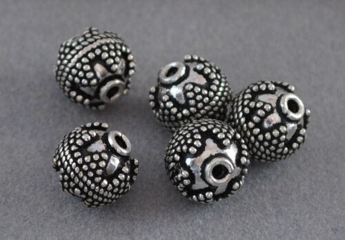DIY Vintage Schmuck Spacer Perlen 925 Silber Zwischenteile Charms Altsilber