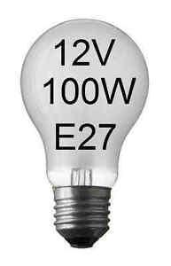 Glühbirne 24V 100W E27 MATT Glühlampe Sonderspannung 24 Volt 100 Watt