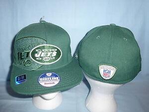 4a53d76131a New York NY JETS Reebok NFL SIDELINE Flat Brim CAP HAT size Large XL ...