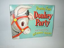 PARTY FUN DONKEY PARTY VINTAGE BOXED GAME DONKEY TAILS & MORE GAMES 1952 WHITMAN