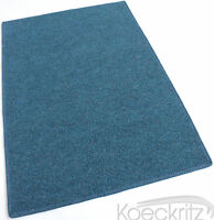 Blue Indoor Outdoor Area Rug Carpet Non-skid Marine Backing Many Sizes