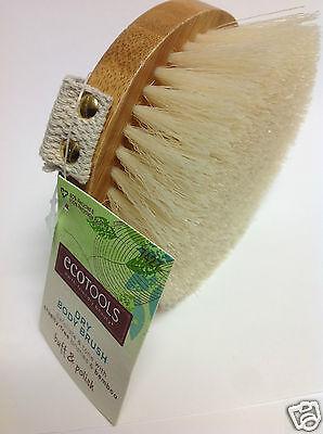 ecotools Dry Body Brush Exfoliate & Tone / Cruelty-Free Bristles & Bamboo New.